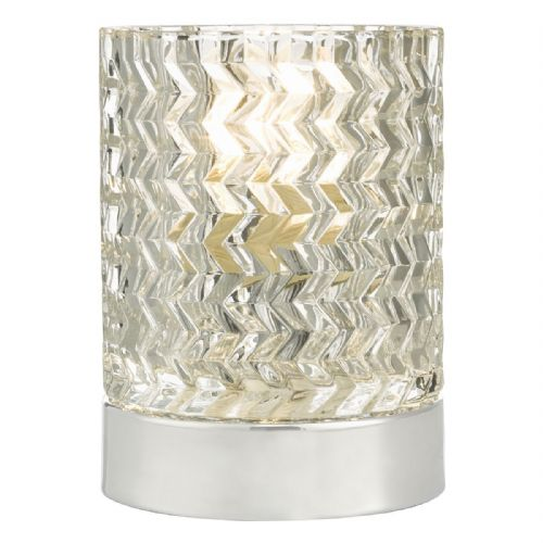 Braydon Table Lamp Touch Polished Chrome complete with Glass Shade (Double Insulated) BXBRA4050-17